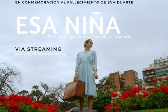 """Esa Niña"", teatro solidario por streaming"