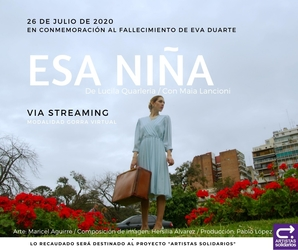 """Esa Niña"", teatro solidario por streaming"