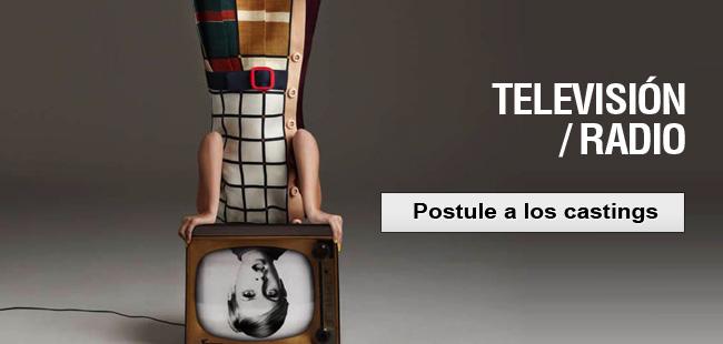 television, postular al casting